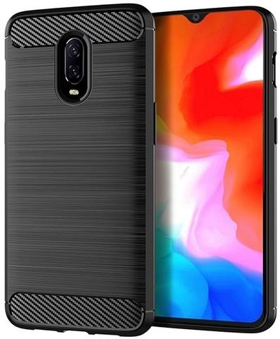 Чехол для OnePlus 6T цвет Black (черный), серия Carbon от Caseport