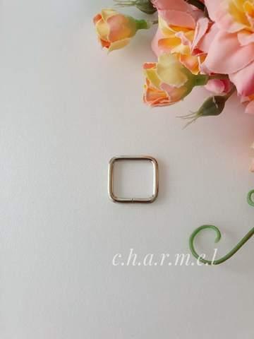 Рамки для сумок, 15 мм, толщина 2,2, цвет серебро