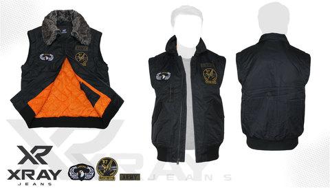 Жилет утеплённый 'Flight Vest Fur W/Patches' Black