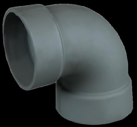 Отвод 90гр чугун ф130