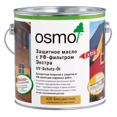 Защитное масло с УФ-фильтром OSMO UV-Schutz-Öl Extra