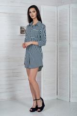 Еріка. Стильне молодіжне плаття-сорочка. М'ята