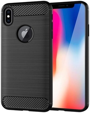 Чехол для iPhone X цвет Black (черный), серия Carbon от Caseport