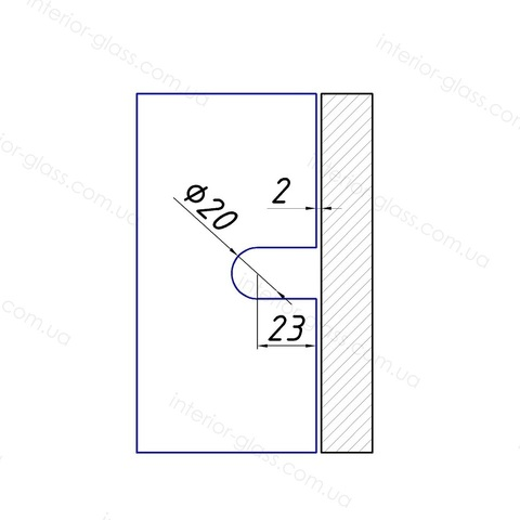Соединитель стекло-стена 90 град. HDL-722G SSS штампованный