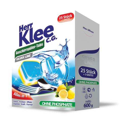 Таблетки для посудомоечных машин Klee Silver Line 30шт.