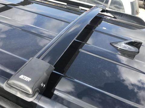 Багажные поперечины INTER Aerostar враспор рейлингов черные R 45-B