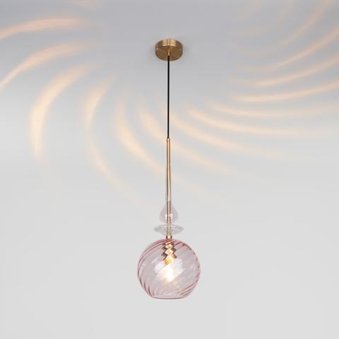 Подвесной светильник со стеклянным плафоном 50192/1 розовый