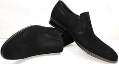 Лоферы черные. Мужская классическая обувь Ikoc 3410-7 Black Suede.