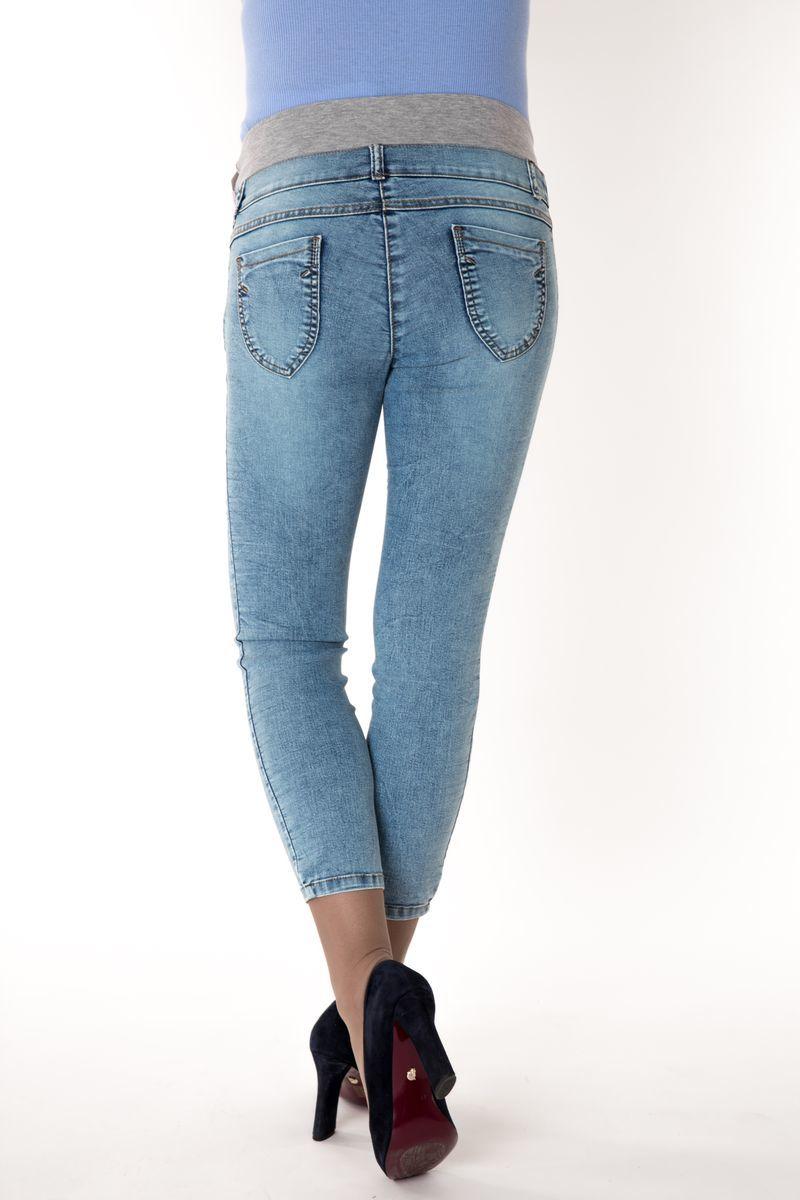 Фото джинсы для беременных MAMA`S FANTASY, скинни, укороченные, низкая вставка от магазина Скоромама, синий, размеры.