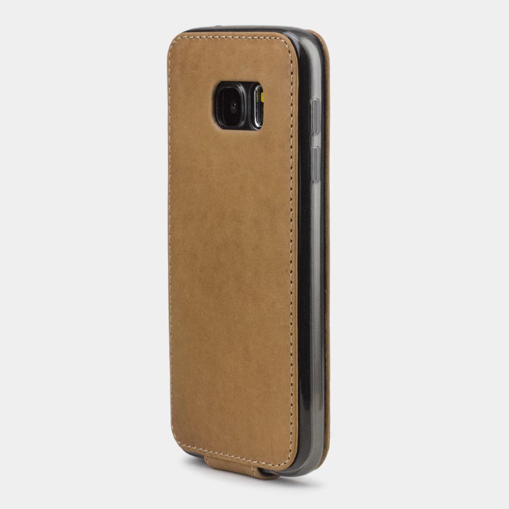 Чехол для Samsung Galaxy S7 из натуральной кожи теленка, цвета винтаж