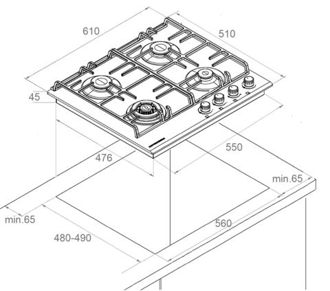 Варочная поверхность Kuppersberg FS 603 W Silver
