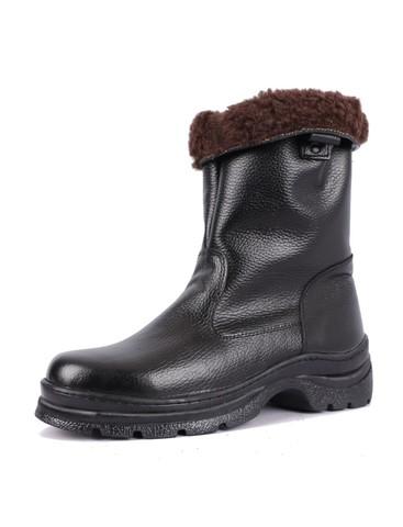 Зимние кожаные сапоги Буран натуральная шерсть