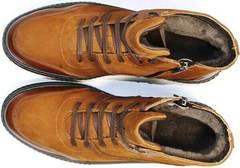 зимние ботинки мужские кожаные с мехом