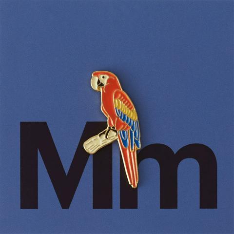 Значок металлический Зоопарк: Ара