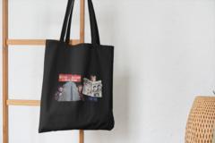 Сумка-шоппер с принтом Один дома, Кевин Маккаллистер, Гарри и Марв (Home Alone) черная 003