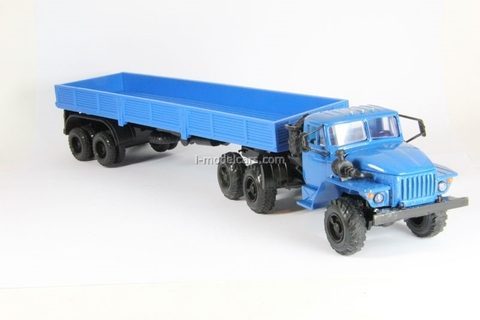 Ural-44202 with semitrailer blue Elecon 1:43