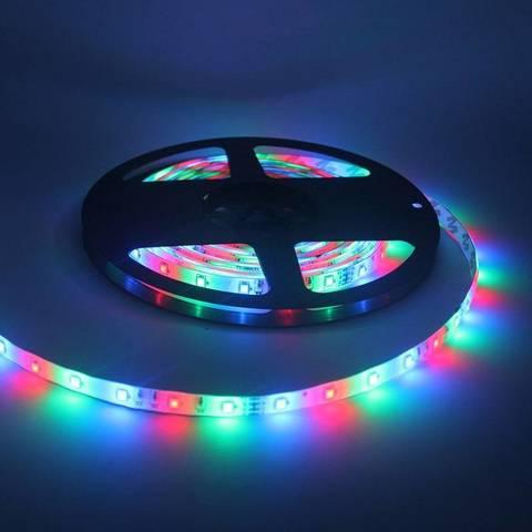 Светодиодная RGB лента с пультом ДУ, контроллером и блоком питания (5м)