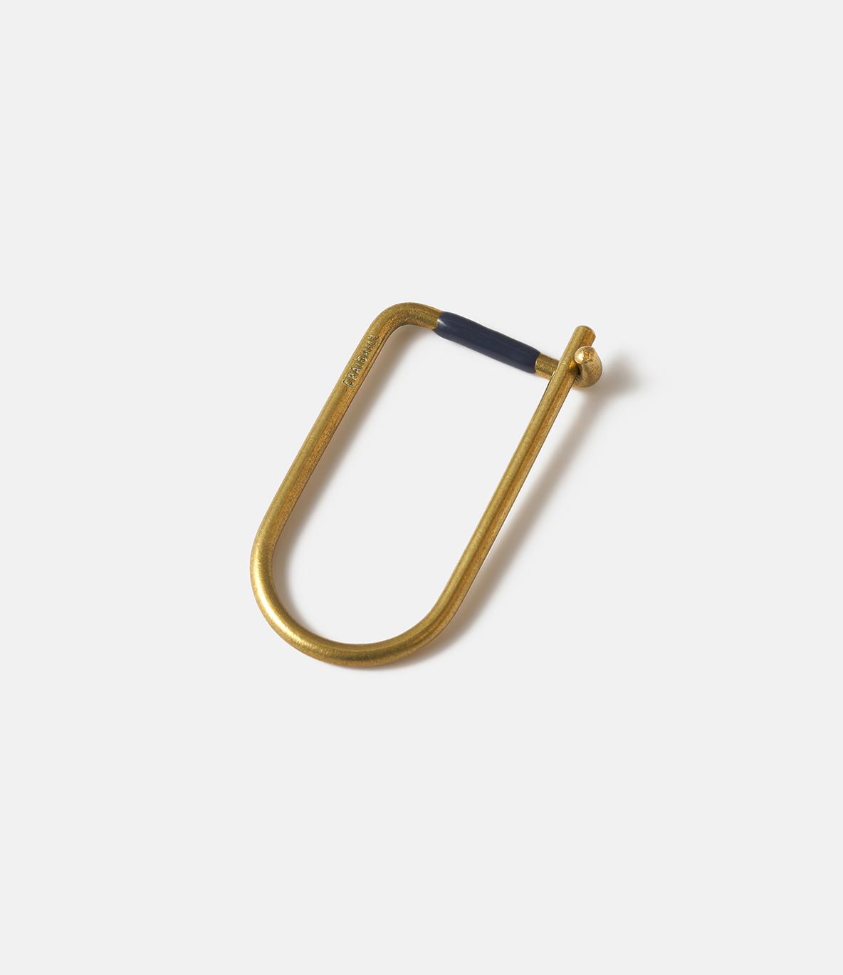 Craighill Wilson Brass Blue — ключница из латуни: синяя эмаль