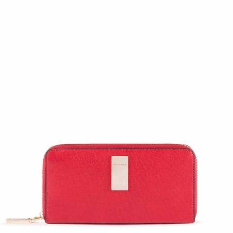 Кошелек Piquadro Dafne Business, красный, 10х19х2,5 см