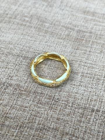 Кольцо Ширитам бирюзовое, позолота