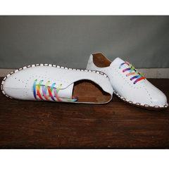 Женские туфли летние  Evromoda 19604 White