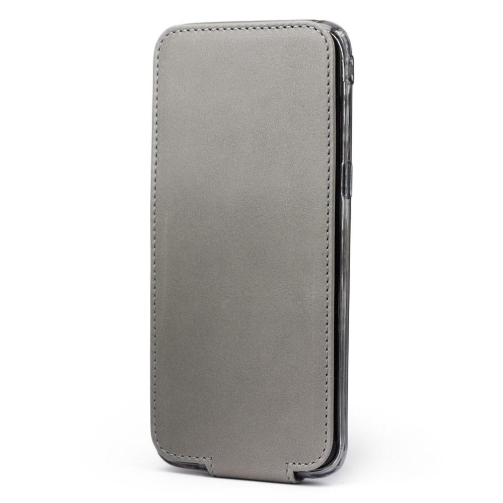 Чехол для Samsung Galaxy S8 из натуральной кожи теленка, светло-серого цвета