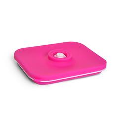 Ланчбокс складной прямоугольный розовый 1000мл (силикон)