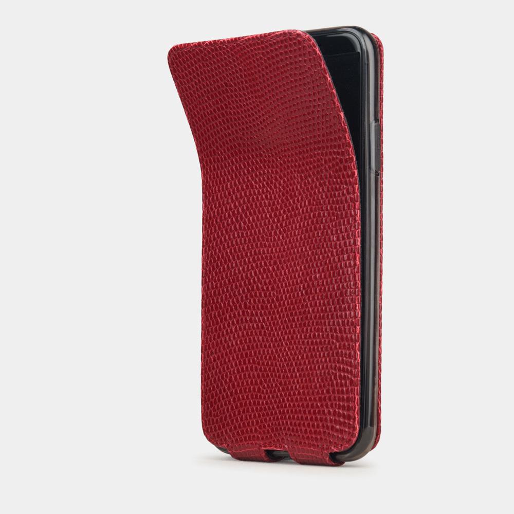 Special order: Чехол для iPhone 11 Pro Max из натуральной кожи ящерицы, красного цвета