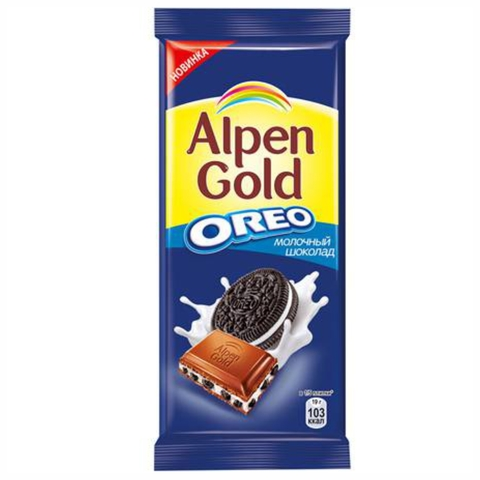 Шоколад ALPEN GOLD Oreo Молочный 95 гр РОССИЯ