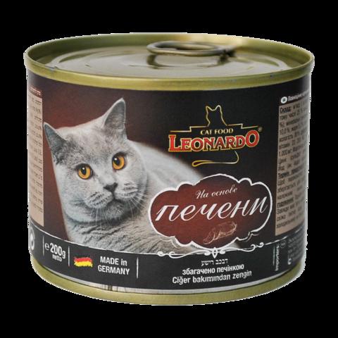 Leonardo Консервы для кошек с печенью (Банка)