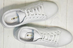 Кожаные кеды женские кроссовки из натуральной кожи Evromoda 141-1511 White Leather.