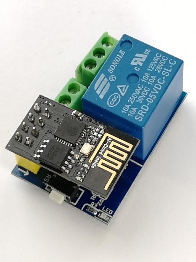 Релейный модуль 5V/10A для ESP8266 ESP-01/01S V1.0 (1 канал)