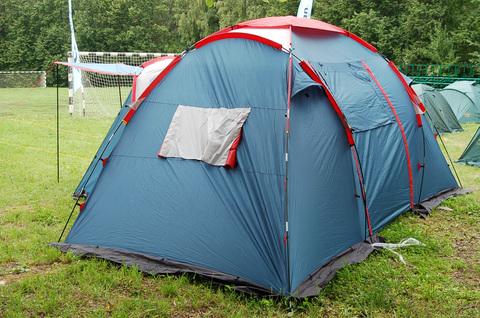 Палатка Canadian Camper SANA 4 PLUS, цвет royal, боковое окно.