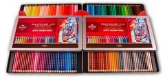 Набор художественных цветных карандашей POLYCOLOR 144 цвета в металлической коробке