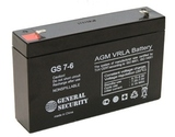 Аккумулятор General Security GS 7-6 ( GS6-7.0 ) ( 6V 7Ah / 6В 7Ач ) - фотография