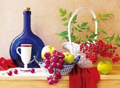 Алмазная Мозаика + Багет 40x50 Натюрморт с фруктами и ягодами (Арт. DA-1368 )