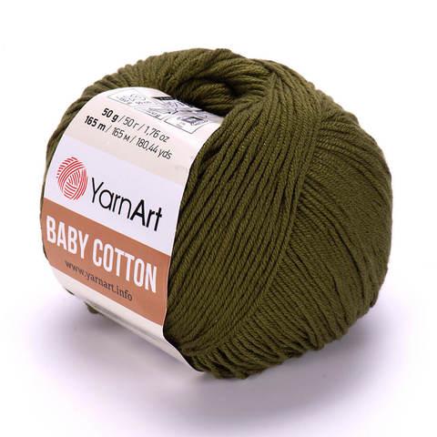 Пряжа Baby Cotton (Бэби Котон) Болотный. Артикул: 443