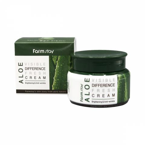 Farmstay Visible Difference Fresh Cream Aloe освежающий крем с алоэ вера