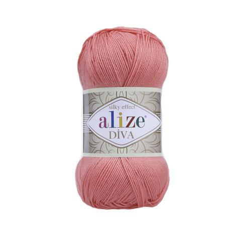 Пряжа Alize Diva 619 коралл