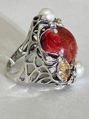 Эдем (кольцо из серебра)