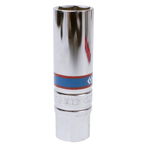 """Головка свечная шестигранная 3/8"""", 16 мм, магнитный фиксатор KING TONY 366516"""