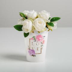 Стаканчик для цветов LOVE, 11 х 8,5 см
