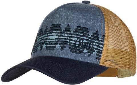 Кепка-бейсболка Buff Trucker Cap Tzom Stone Blue фото 1
