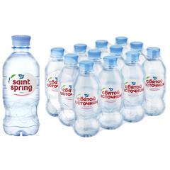 Вода питьевая Святой Источник негазированная 0.33 л (12 штук в упаковке)
