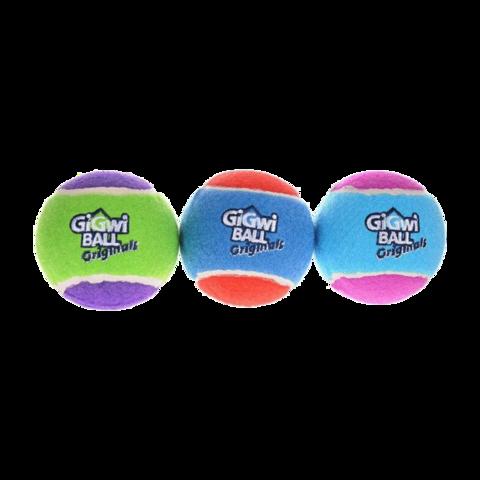 GiGwi Игрушка для собак средних и крупных пород Три мяча с пищалкой