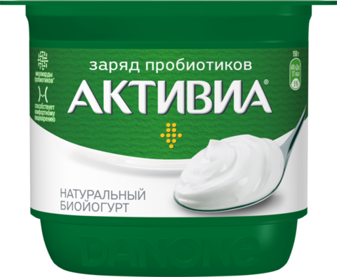 "Биойогурт ""Активиа"" натуральная 150г"