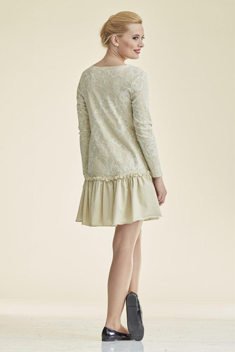 Фото платье-туника для беременных Mama i Ja от магазина СкороМама, желтый, золото, размеры.