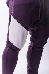 Мужские брюки Nebbia Drop Crotch 729 burgundy