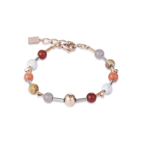 Браслет Coeur de Lion 4949/30-0302 цвет темно-красный, оранжевый, коричневый, белый