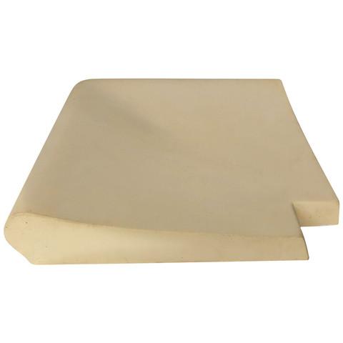 Внешний прямой угловой копинговый камень Carobbio Standard гладкий, 370x370 мм (песочный) / 24415